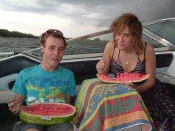 Vodka-infused watermelon!