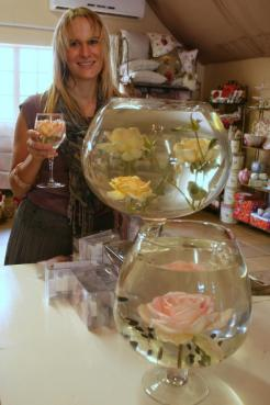Imagine sipping champagne or soda water from a rose glass