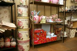 Such pretty stacking bins and adore the teapots, for a big tea fan like I am these would do just fine!