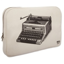 Vintage carrier for modern day laptop, love!